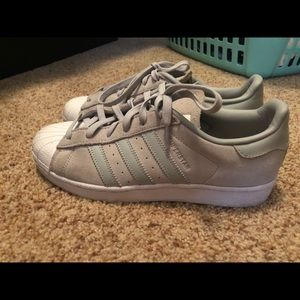 Adidas gray superstar sneakers